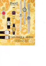 PUBLICITE  1969   VAN CLEEF & ARPELS   montres PIAGET