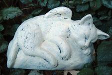 Latex w plastic backup angel cat  mold plaster concrete garden mould