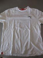 Shirt T-Shirt Puma Sport Lifestyle Herren Baumwolle Weiß XL oder 54