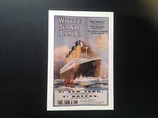 Postcard Titanic poster 2/4/96 Bahamas 1st day issue Centenary Marconi Radio com