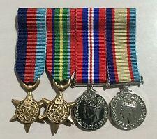 WW2 Miniature Swing Mounted Medal Set