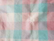GINGHAM CHECK BLUE WHITE KITCHEN CURTAINS DRAPES W46 X L42 /& PELMET W132 X L10