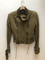 Balmain Cotton Military Green Jacket Fr38