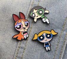 Buttercup,Bubbles and Blossom 3pcs Pins New! Cartoon Network The Powerpuff Girls