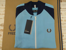 FRED PERRY Track Jacket Alaskan Blue BOMBER Sportswear Size S Top BNWT RRP£75