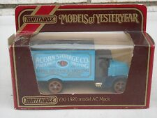 Matchbox  Y-30 1920 Mack Model AC Acorn Storage Co Truck MIB