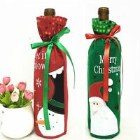 Christmas Decoration Snowman/Santa Claus Red Wine Bottle Cover Bags Sequins