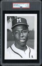 Hank Aaron 1957 Milwaukee Braves Type 1 Original Photo PSA/DNA Crystal Clear!
