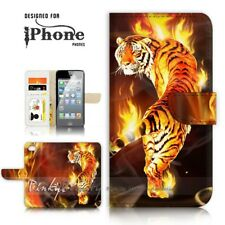 ( For iPhone 7 Plus ) Wallet Case Cover P21191 Tiger