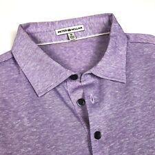PETER MILLAR short SLEEVE Lavender Polo Shirt Men's Size Medium NWOT