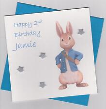 Personalised Handmade Peter Rabbit 1st, 2nd, 3rd Birthday Card