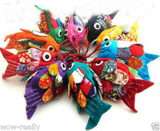 Wholesale 8pcs CHINESE Ethnic FLAX Linen FISH HANDBAGS POUCH purse Shoulder Bags