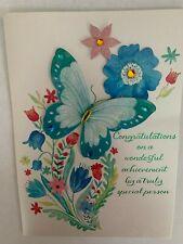 Papyrus Greetings Graduation Card Gem Butterflies & Floral