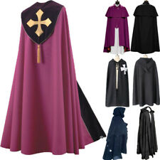 Medieval Long Cape Coat Vintage Halloween Coat Gothic Cape Cloak Cosplay Costume