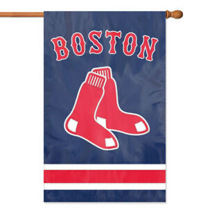 Boston Red Sox House Banner Flag PREMIUM Outdoor DOUBLE SIDED Embroidered