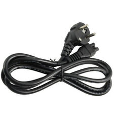 1m EU 3 Prong 2 Pin AC Laptop Power Cord Adapter Cable Black Supply PC Desktop