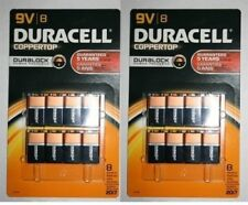 Duracell Coppertop 9V Batteries 8 Count 2 pack 16 Exp 2019 Made in USA