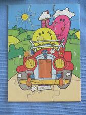 MR MEN PUZZLE 15 chunky pieces vintage 1982 card Hestair Puzzles