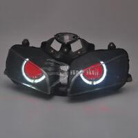 White Angel & Red Demon Eyes HID Projector Headlight For Honda CBR600 F5 2003-06
