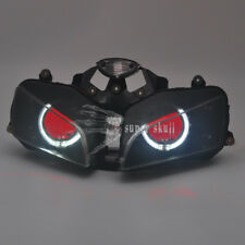 White Angel & Red Demon Eyes HID Projector Headlight For Honda CBR600 F5 2003-06
