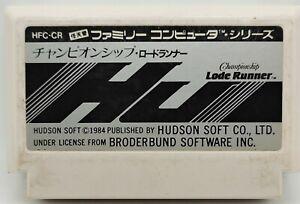 Genuine Championship Lode Runner Video Game for Nintendo Famicom JAPANESE TESTED