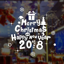 Hot Merry Christmas Happy New Year Wall Sticker Home Shop Windows Decals Decor