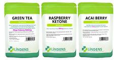 60 Lampone Chetoni 60 bacche Acai 60 tè verde 9000mg Dieta Dimagrante pillole pesare