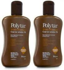2 x 150ml Polytar Scalp 4% Coal Tar Shampoo - Itchy, Psoriasis, Eczema, Dandruff