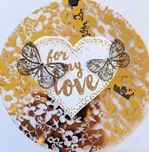 Valentine's Day Hanging Decoration Greeting Card ' For My Love'