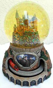 Harry Potter SNOW GLOBE Journey to Hogwarts Music Lights Glitter Train Bradford