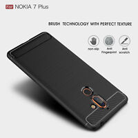 Shockproof Silicone Hybrid Case Matte Bumper TPU Soft Cover For Nokia 7 Plus