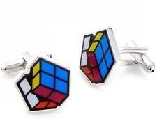Rubix Cube Silver Cufflinks