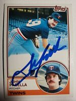 1983 Topps John Pacella Auto, Autograph Card Twins Signed #166