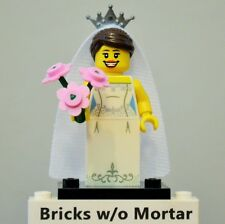 New Genuine LEGO Bride Minifig with Flower Bouquet Series 7 8831