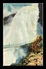 US LINEN POSTCARD CAVE OF THE WINDS NIAGARA FALLS NEW YORK