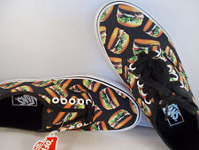 VANS Authentic Late Night Black/Hamburgers Shoes Men's Size 4 New In Box