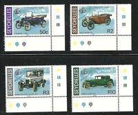 Album Treasures Seychelles Scott # 581-584  Vintage Cars Mint NH