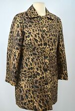 Chicos lined light Jacket button up coat leopard shimmer long Chico SZ 1 S M NEW