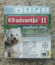 GENUINE BAYER K9 ADVANTIX II FLEA & TICK CONTROL FOR DOGS 11 - 20 lbs - 4 PACK