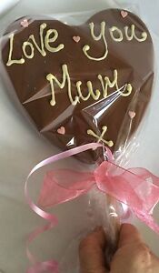 Giant Personalised Chocolate Lolly Valentines