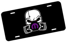 Mopar Skull Mask Purple License Plate Automotive .40 Alum. Hi-Quality Full Color