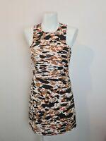 Hansen & Gretel Girl - Black, Brown White Camo A-Line Dress Size 10 Fit Ladies 8