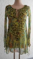 Luxus edle Designer Bluse Monique Leshman Gr. M neuwertig