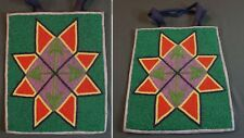 Very Fine 1910 Native American Plateau Nez Perce Yakama Geometric Beaded Bag
