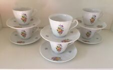 Furstenberg Tea Cups And Saucers Set Of 6