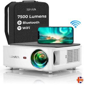 YABER WiFi Bluetooth Portable Projector 7500 Lumen 1080P HD Multi Compatibility