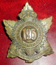 CAP BADGES-WW1 CANADIAN CEF 193rd NOVA SCOTIA HIGHLANDERS CHARLTON REF 193-2