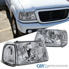 01-11 Ford Ranger Pickup Truck Clear Headlights+Corner Signal Lamps Replacement