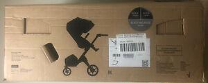 Stokke Xplory 6 Baby Stroller Black Chassis with Black Handle Black Melange NEW