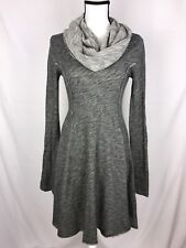 FP BEACH by Free People Women's Cowl Neck Dress Size S/P Gray Long Sleeve